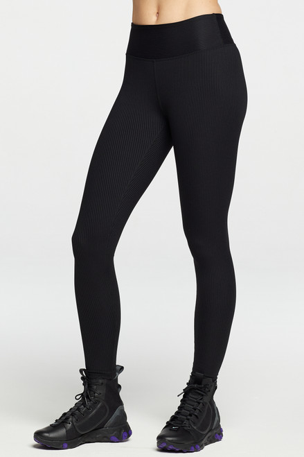 Year of Ours - Ribbed Jogger Legging in Black