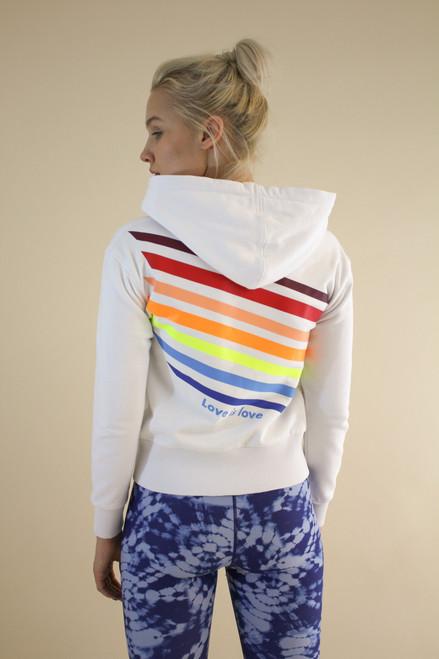 Love is Love Zip Front Hoodie Sweatshirt