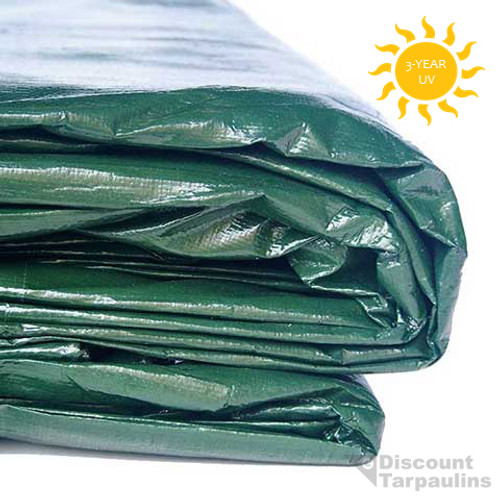Green White Heavy Duty Tarpaulin 300 gsm super heavy duty industrial grade