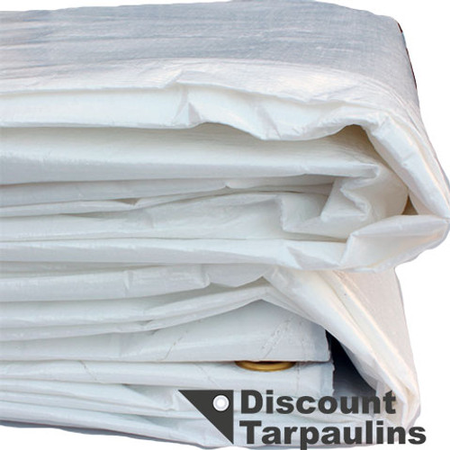 White Heavy Duty PE Tarpaulin - Quality Tarp 1
