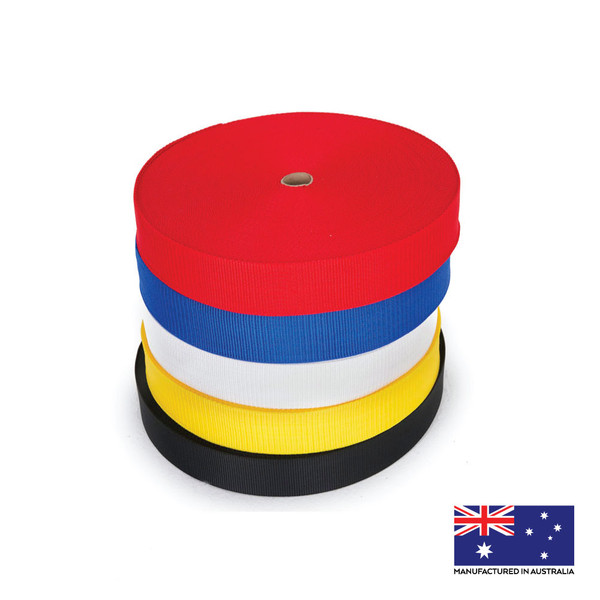 50mm webbing 5 metre rolls assorted colours