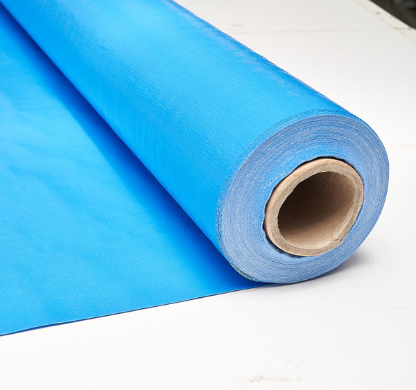 230gsm Blue Poly Fabric 50m Roll - 2.05m Width