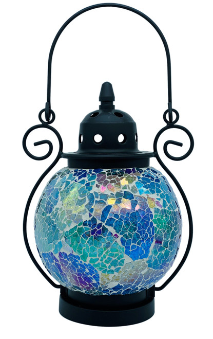 Sparkling Rainbow Mosaic Tea Light Lantern