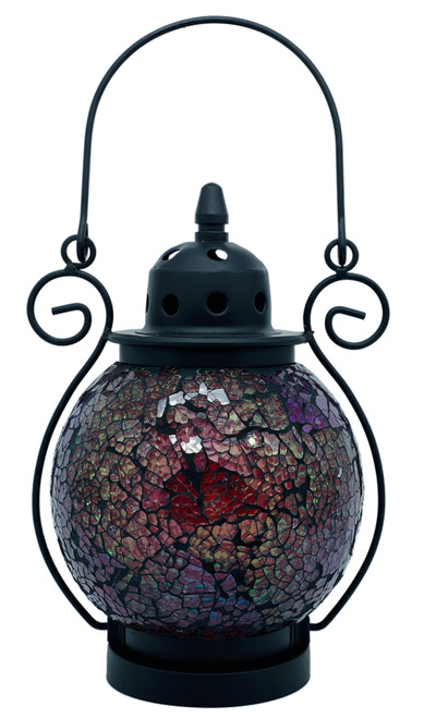 Red Reflections Mosaic Tea Light Lantern