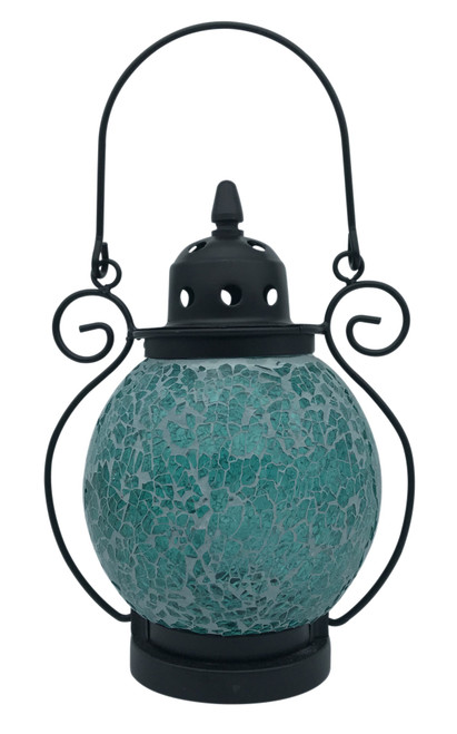 Turquoise Mosaic Tea Light Lantern