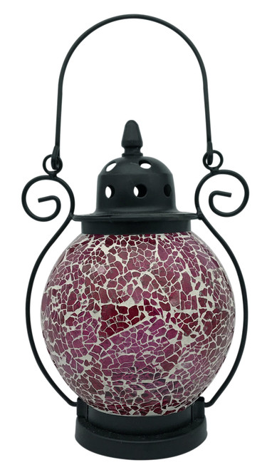 Pink Mosaic Tea Light Lantern