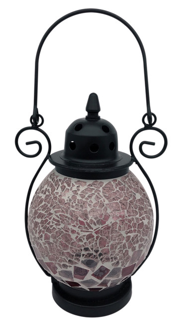 Powder Pink Mosaic Tea Light Lantern