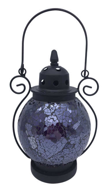 Purple Mosaic Tea Light Lantern