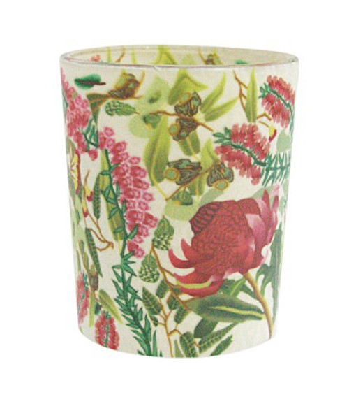 Waratah Cylinder Tea Light Holder