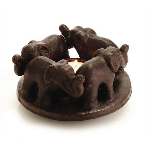 Elephant circle of Friends Tea Light Holder