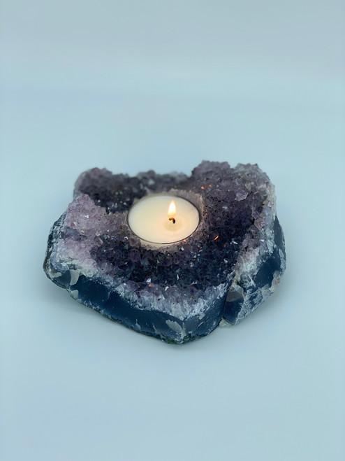 Amethyst  Crystal Tea Light Holder