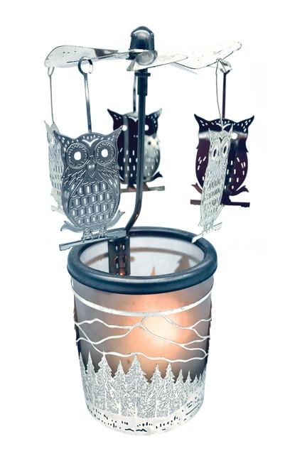 Owl Carousel Tea Light Holder