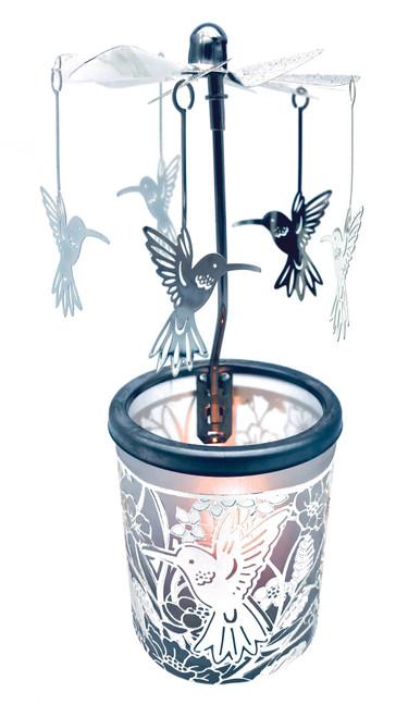 Hummingbird Carousel Tea Light Holder