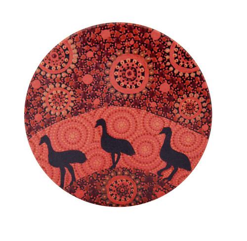 Emu Candle Plate