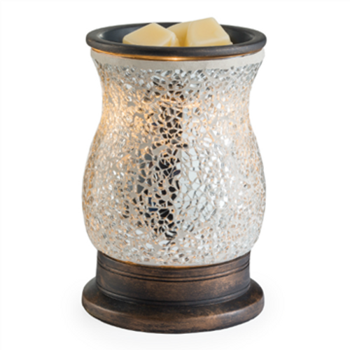 Silver Mosaic Electric Melt Warmer