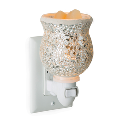 Silver Mosaic Plug In Electric Melt Warmer