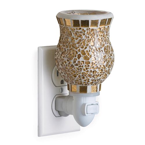 Gold Mosaic Plug In Electric Melt Warmer