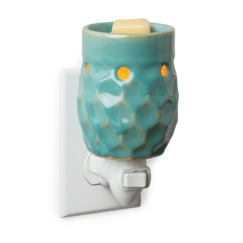 Honeycomb Turquoise Plug In Electric Melt Warmer