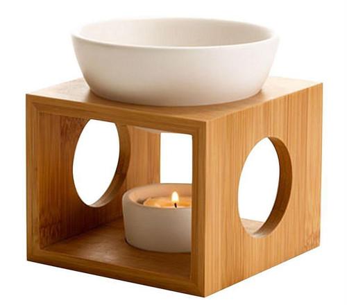 Bamboo Melt Burner - White