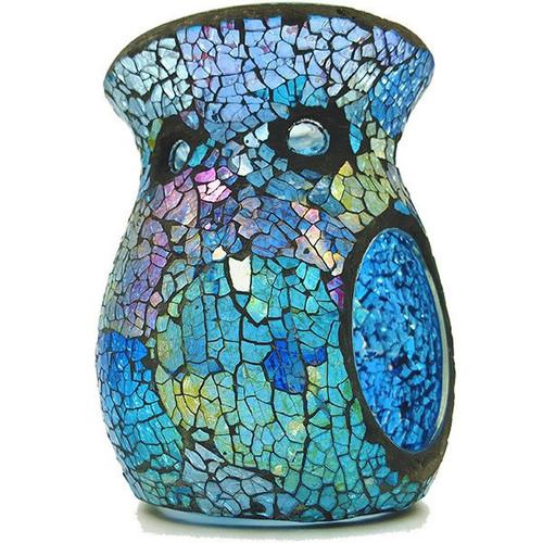 Mosaic Melt Burner - Blue & Silver