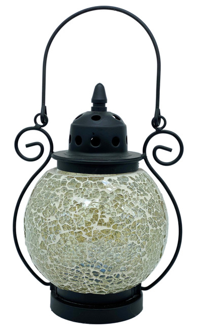 Ivory Mosaic Tea Light Lantern