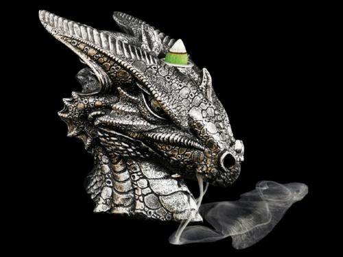 Silver Dragon Backflow Incense Burner