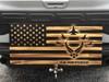 Air Force Wooden Rustic American Flag