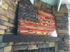 Rustic Engraved Wooden American Flag