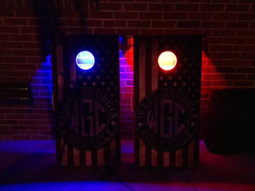 Bluetooth Multi Color Battery Operated Cornhole LED Hole Lights, Set of 2 (SHIPS FREE)
