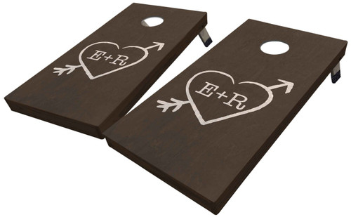 Arrow and Heart Custom Cornhole Board Set