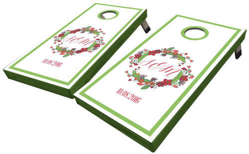 Floral Wreath Custom Cornhole Boards