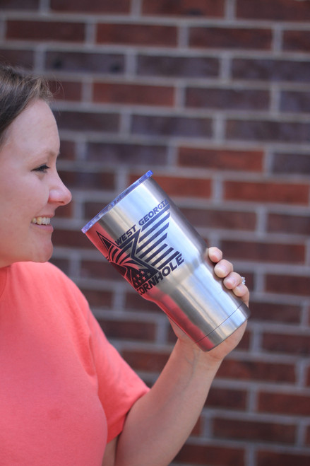30oz. and 20oz. Laser Engraved Stainless Steel Tumblers