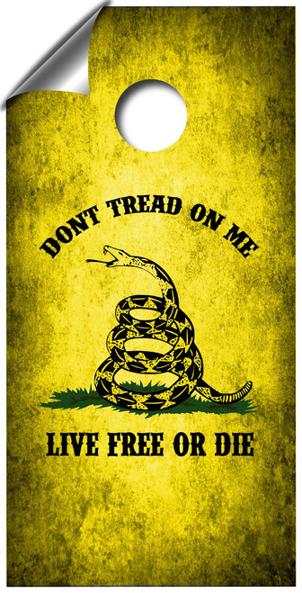 Don't Tread On Me Cornhole Board Wrap Set LAMINATED
