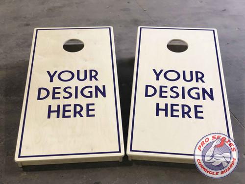 CUSTOM Pro Series Tournament Grade Cornhole Boards (NO BAGS)