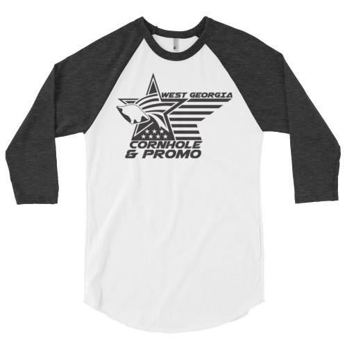 West Georgia Cornhole- 3/4 sleeve raglan shirt