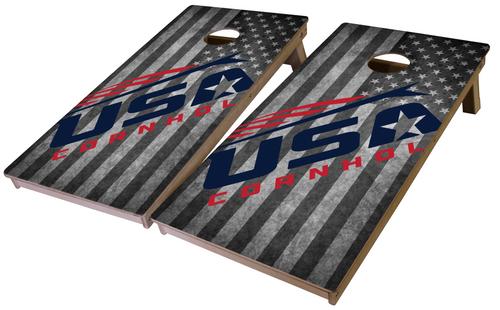 USA Cornhole Pro Series Tournament Grade Cornhole Boards-Flag
