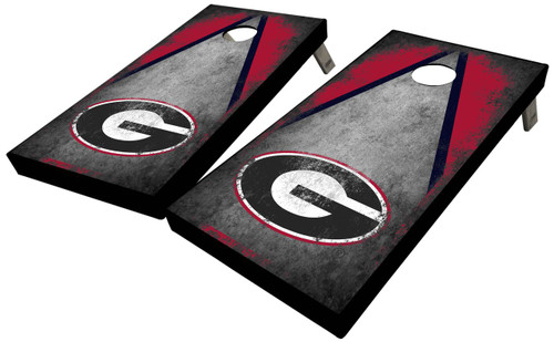 University of Georgia Cocrete Triangle Cornhole Boards