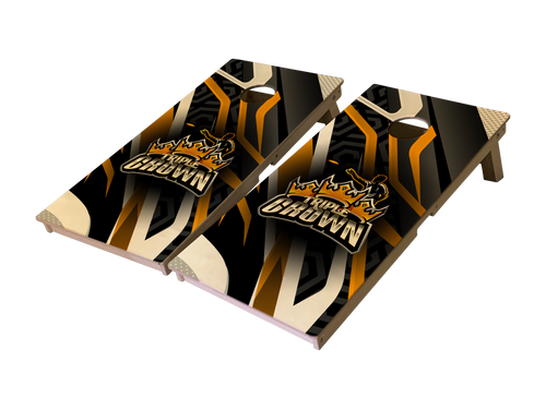 Triple Crown Abstract Pro Series Tournament Grade Cornhole Boards