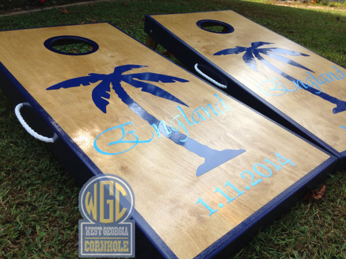 Palm Tree Custom Cornhole Boards