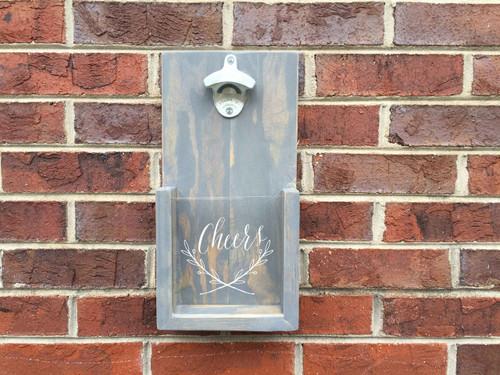 Cheers Design Wall Hanging Bottle Opener