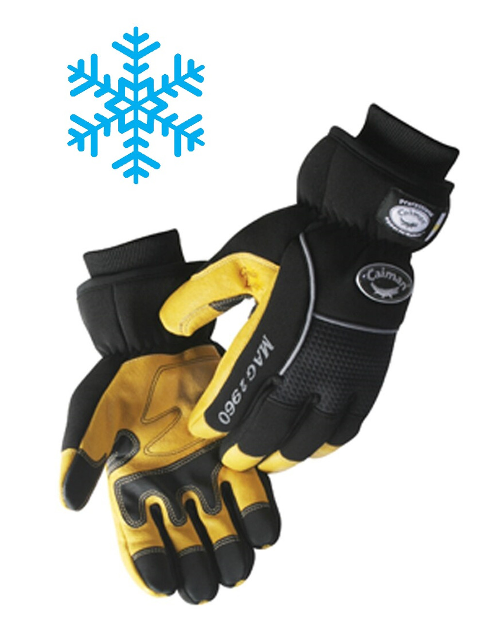 Caiman® Insulated Pigskin Leather Palm Gloves - Insulted Gloves   ## 2960 ##
