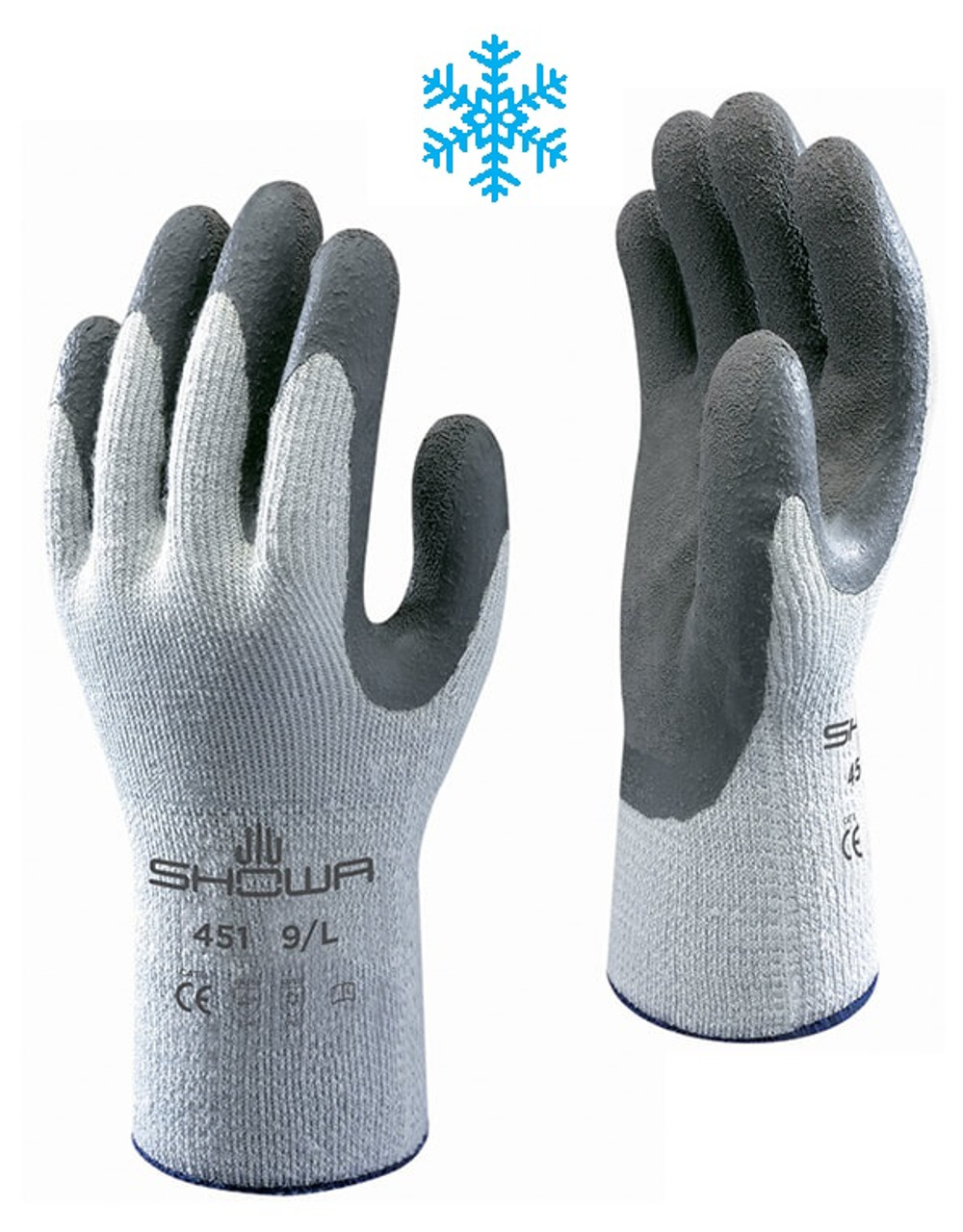 SHOWA 451 Therma-fit Insulated Latex Palm Coated Gloves