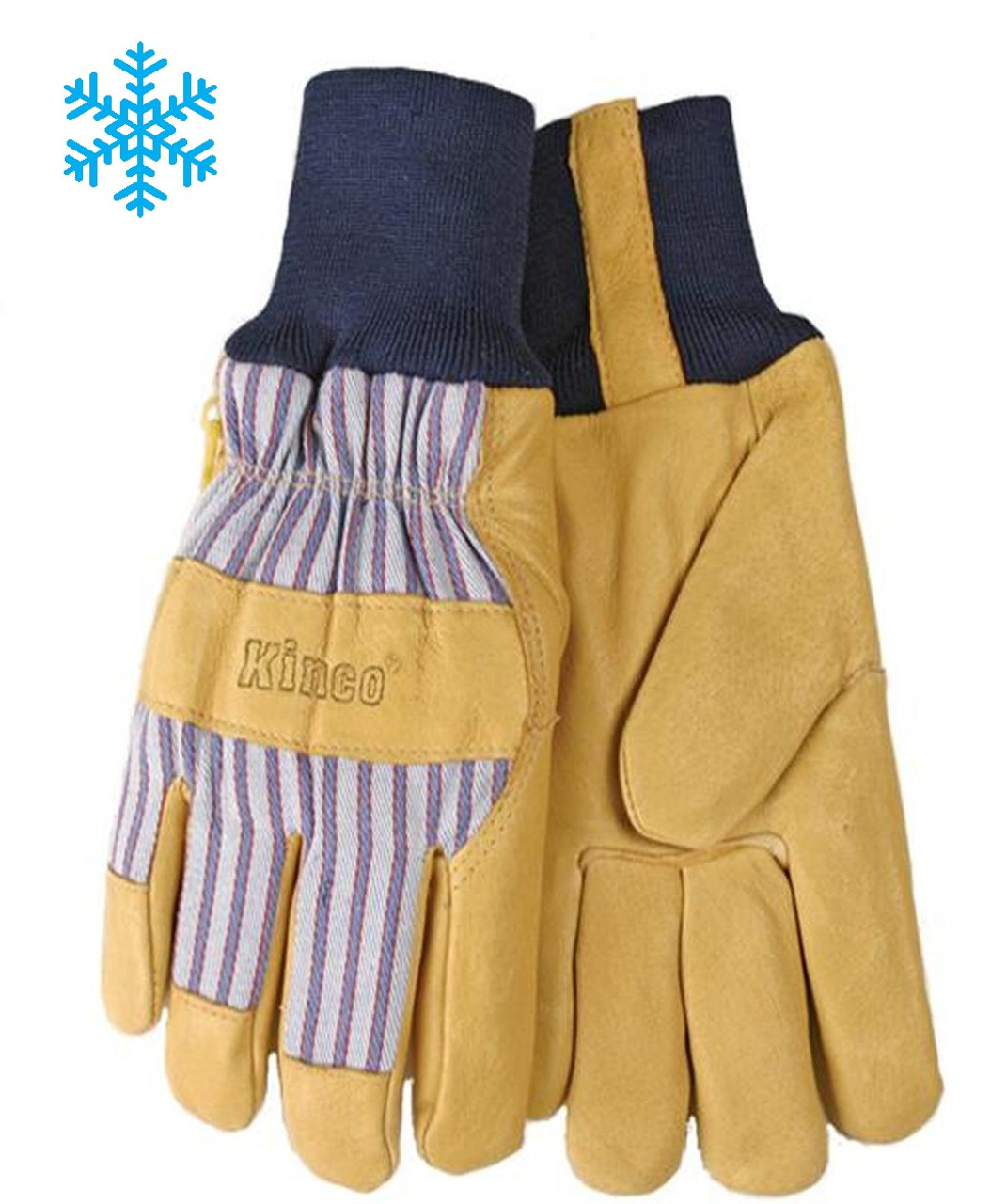 Kinco® Top Grain Pigskin Palm Knit Wrist Gloves - Insulated Gloves  ## 1927KW ##