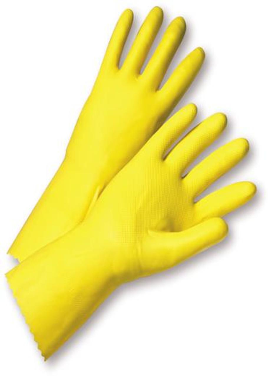 "Premium Nitrile Chemical Resistant Work Gloves 15 mil 13/"" in Long 5 Pairs L"
