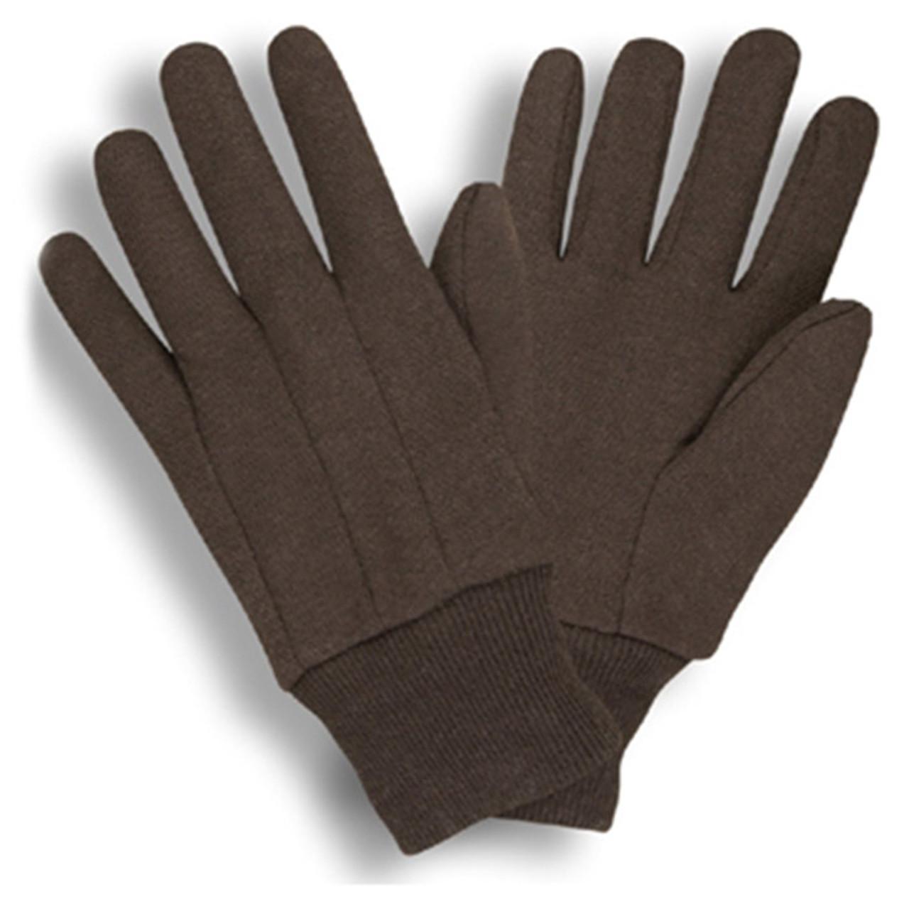 Standard Weight Brown Jersey Gloves  ##345 ##