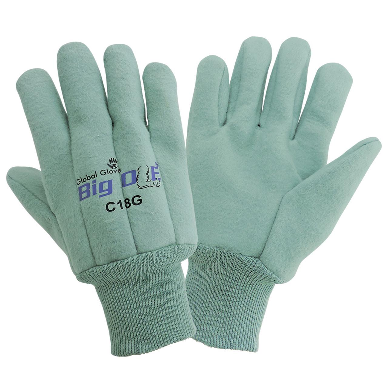 Global Glove C18G Premium 18-Ounce Heavyweight Cotton Chore Gloves
