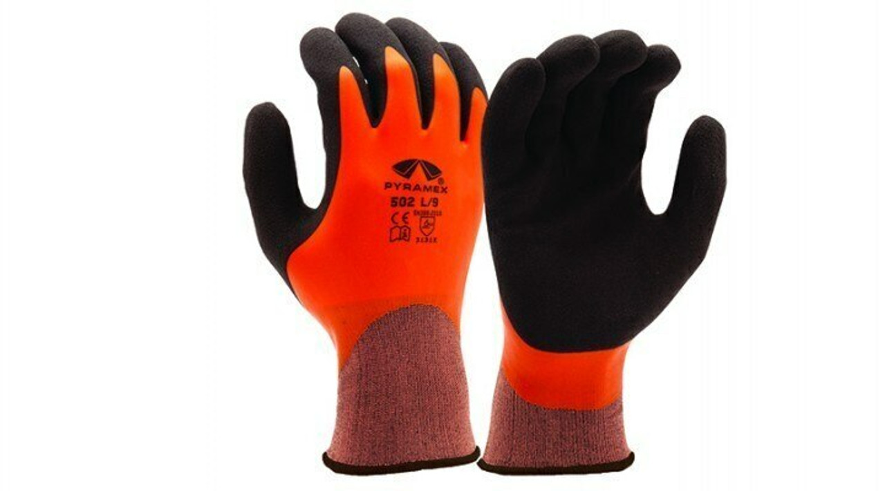 Pyramex GL502 Sandy and Smooth Latex Dipped Gloves