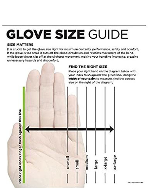 """SHOWA 558 Heavy-Duty Natural Rubber Glove, Unlined, Rolled Cuff, Chemical Resistant, 40 mil Thick, 18"""" Length"""