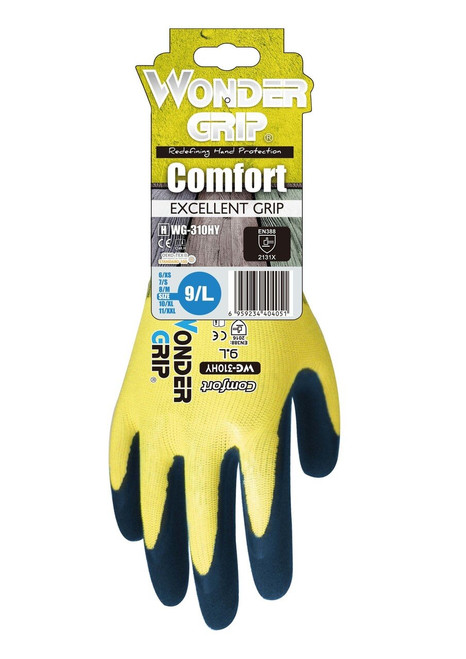 Bellingham WG310HV Wonder Grip Hi-Vis Extra Grip Natural Rubber Palm Gloves