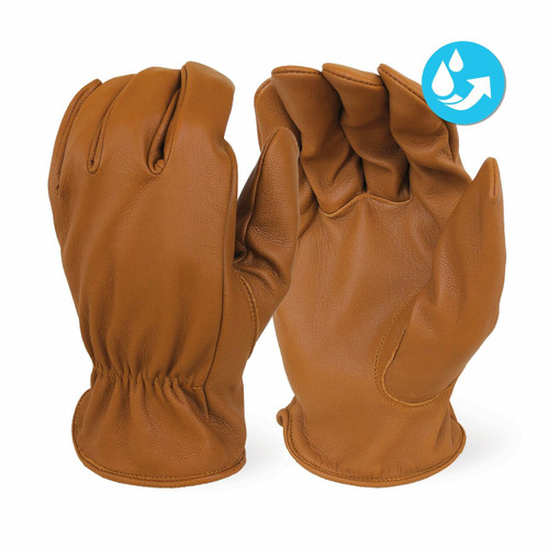 Insulated Premium Grade Caramel Brown Goat Skin Water Resistant Work Glove